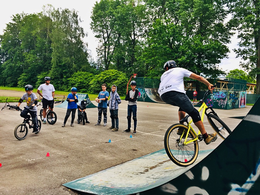 Trénink skatepark